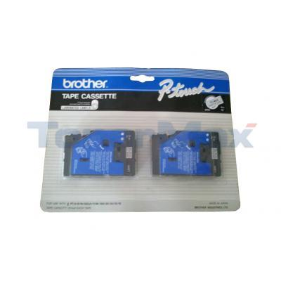 BROTHER TC SERIES TAPE CTG BLACK/CLEAR 3/8IN